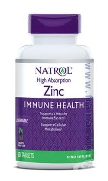 Изображение към продукта НАТРОЛ ЦИНК дъвчащи таблетки * 60