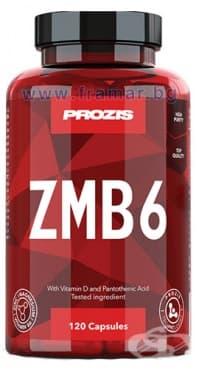 Изображение към продукта ПРОЗИС ZMB6 - ЦИНК + МАГНЕЗИЙ + ВИТАМИН Б 6 капсули * 120