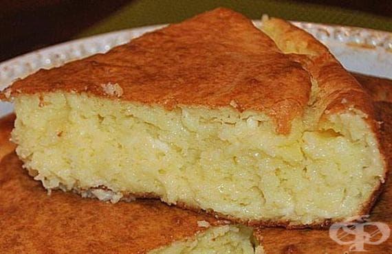 Бърз солен кекс със сирене и кисело мляко - изображение
