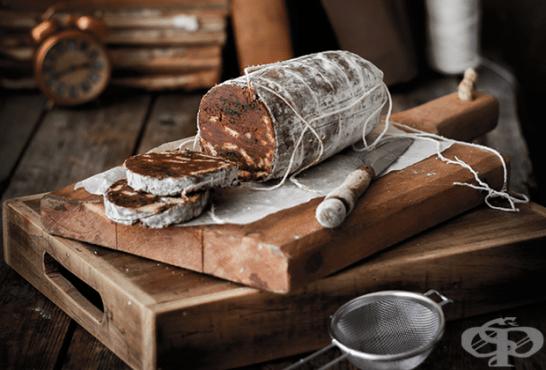 Шоколадов салам с карамел и тахан - изображение