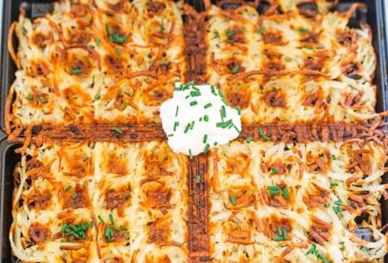 Хрупкави картофени гофрети - изображение