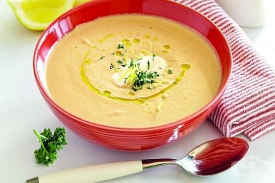 Крем супа от патладжани с чесън, домати и лимонова кора - изображение