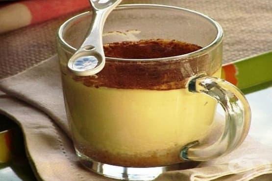 Чийзкейк с портокалов сок в чашка (в микровълнова) - изображение
