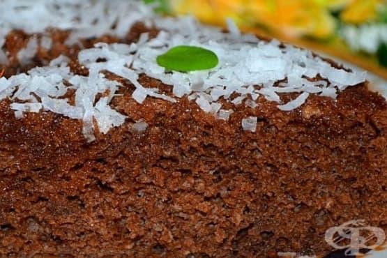 Шоколадов сладкиш с кокос и портокалов сироп - изображение
