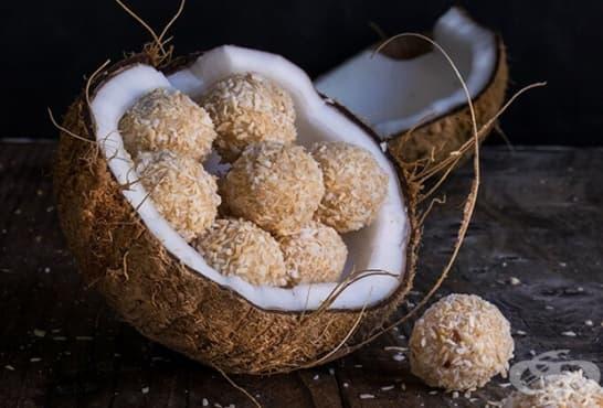 Кокосови трюфели с лешник - изображение