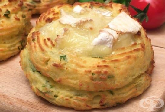 Картофени кошнички с бекон, кашкавал и сирене - изображение