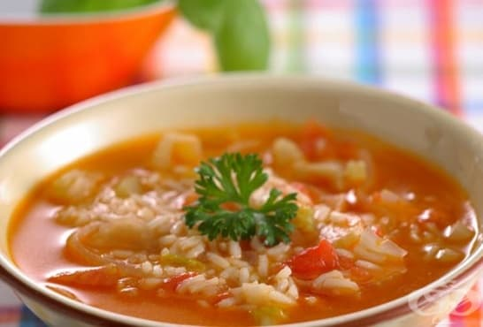 Доматена супа с ориз - изображение
