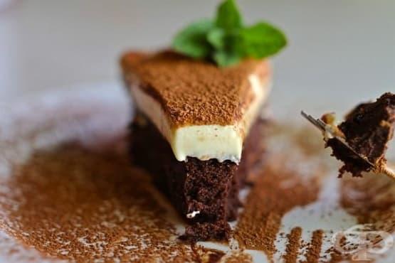 Торта-трюфел с мус от бял шоколад - изображение