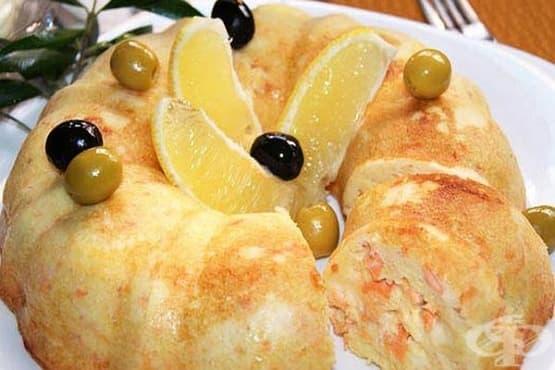 Картофено суфле с пушена сьомга и кашкавал - изображение