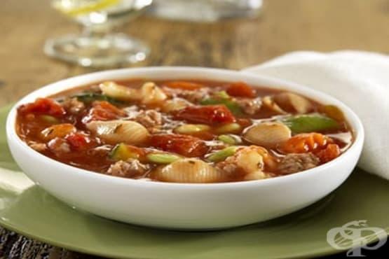 Супа с телешка кайма и  макарони - изображение