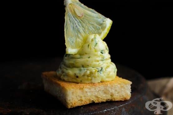 Лимоново масло с маслини и копър - изображение