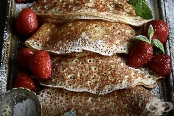 Ръжени палачинки с кефир и сода - изображение