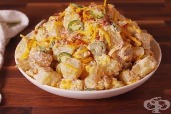 Картофена салата с чедър и халапеньо - изображение