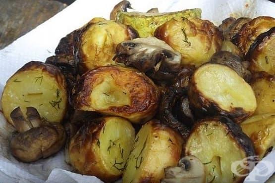 Шишчета от мариновани пресни картофи на жар - изображение