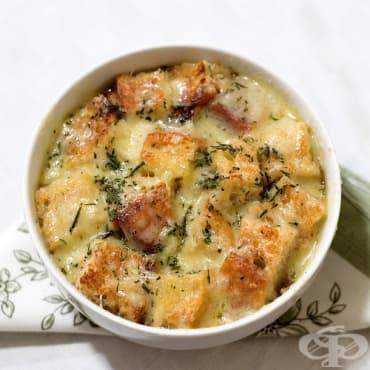 Пилешка супа с картофи и топено сирене - изображение