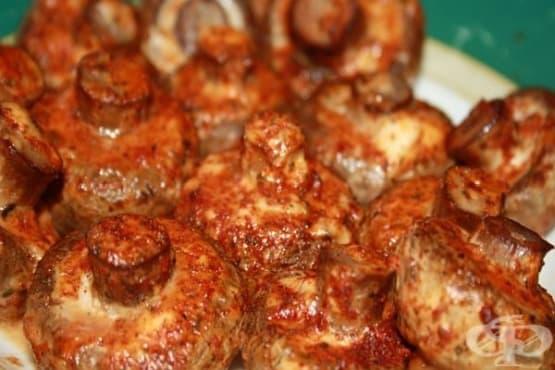 Печени гъби с ароматен сос - изображение