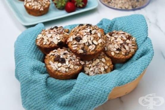 Кексчета с овесени ядки, без захар и брашно - изображение