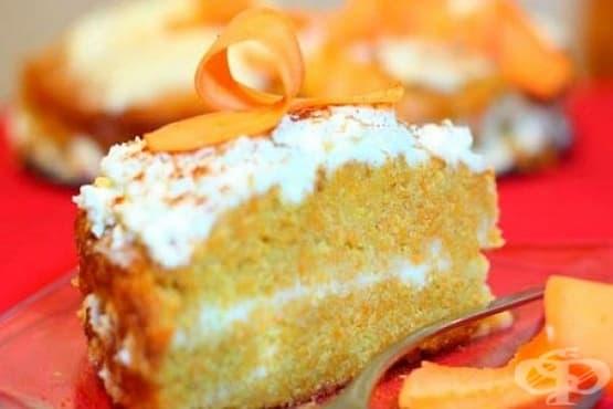 Торта с тиква, крема сирене и канела - изображение