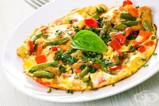Омлет с кисело мляко и зеленчуци - изображение
