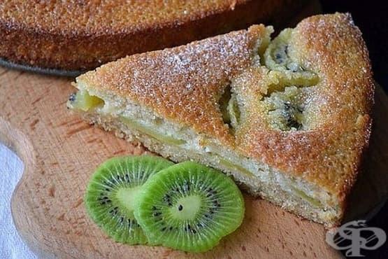 Плодова пита от течно тесто - изображение