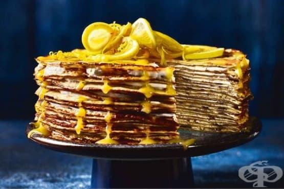 Лимонова палачинкова торта - изображение