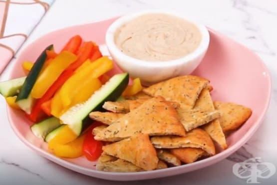 Тесто от бадемово брашно и моцарела (фатхед тесто) - изображение