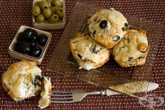 Кексчета с маслини и козе сирене - изображение