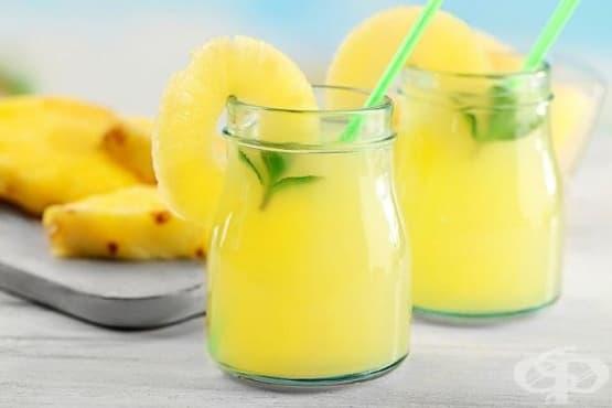 Ананасова лимонада с мента - изображение