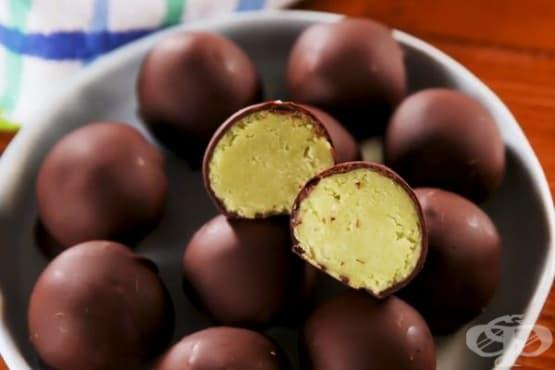 Авокадо трюфели с черен шоколад - изображение