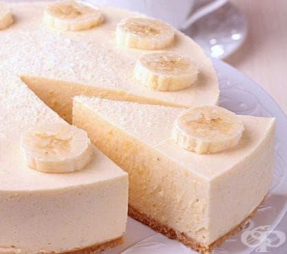 Бананов чийзкейк без печене - изображение
