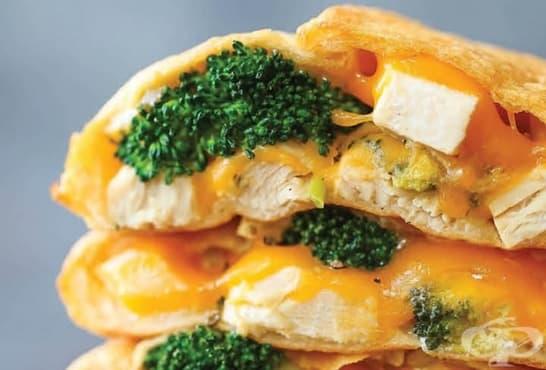 Бутер джобчета с броколи, кашкавал и пилешко - изображение