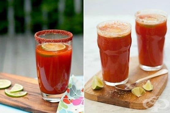 Мичелада - бирен коктейл с доматен сок и лайм - изображение