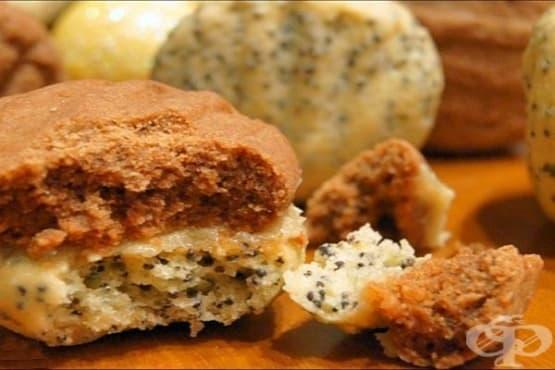 Пясъчни бисквити с крем от халва - изображение