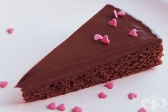 Шоколадово брауни с ганаш за глазура - изображение