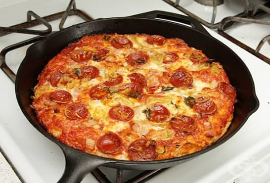 Бърза пица на тиган - изображение