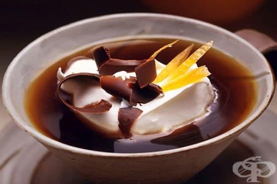 Черен чай с масло и шоколад - изображение