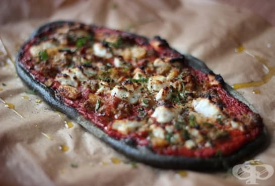 Здравословна черна пица - изображение