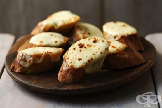Чеснов хляб с моцарела - изображение