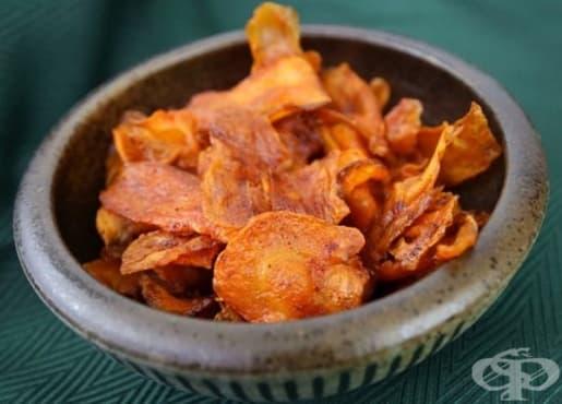 Здравословен чипс от моркови - изображение