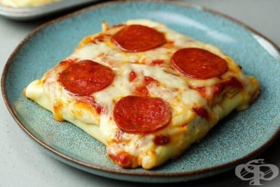 Джоб пица с кори за лазаня - изображение