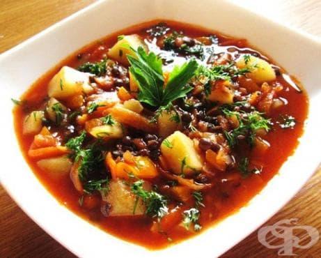 Супа от черна леща - изображение