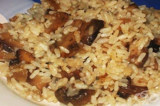 Печурки с ориз и кромид - изображение
