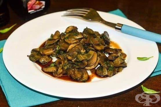 Пържени печурки в соев сос - изображение