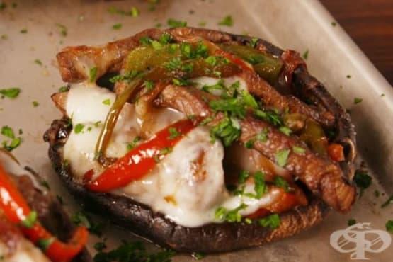Пълнени гъби портобело с говеждо месо - изображение