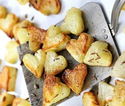 Печени картофени сърчица - изображение