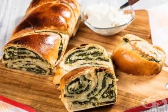 Хляб със спаначена плънка и сирене котидж - изображение