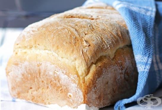 Хляб без месене със слънчоглед и овесени ядки - изображение
