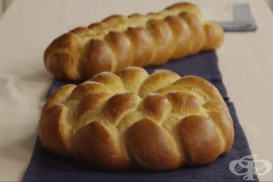 Сладък плетен хляб Чала - изображение