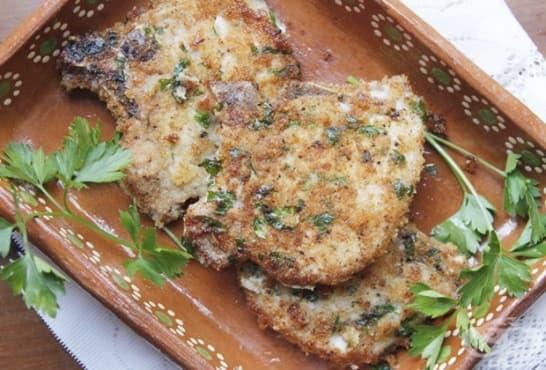 Хрупкави пържоли с масло на фурна - изображение