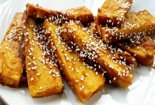 Хрупкаво тофу без пържене - изображение